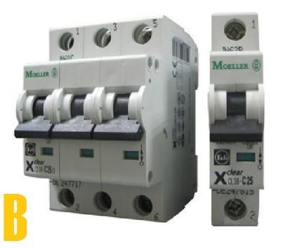 Автоматические выключатели Eaton - Moeller (характеристика В)