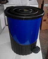 Ведро для мусора с педалью 8л, разный цвет