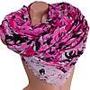 Замечательный женский шарф из хлопка  183 на 91 см  ETERNO (ЭТЕРНО) ES0908-13-5 розовый