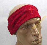 Повязка на голову флисовая, красная!