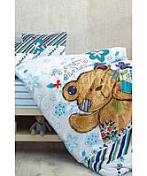 Комплект постельного белья в кроватку (4 предмета) Teddy blue