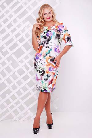 Платье трикотажное Ксения сирень