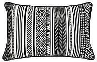 Подушка с узорами под спину для дивана. Длина 60 см