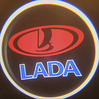 Светодиодная проекция в двери авто Lada / Лада