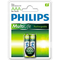Аккумулятор PHILIPS MultiLif Ni-MH R03 1000mAh 2шт