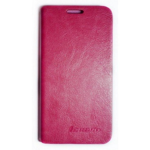 ЧЕХОЛ Leather Flip Cover Lenovo A380 A380t Pink