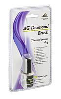 Теплопроводящая паста, силикон + алмаз, 4г, 4Вт/мК (Diamond Brush)