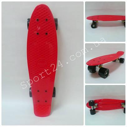 Красный пенни борд 22 Penny board (PVC аморт, до 80 кг)