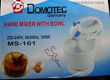 Миксер ручной с чашей Domotec 400 Вт Германия