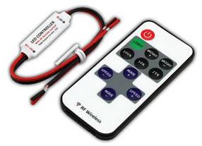Мини диммер RF DMR 5-24V, 12A для монохромной светодиодной ленты с радио пультом Код.57271