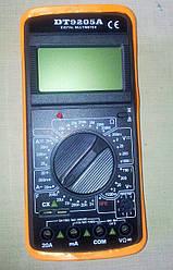 Мультиметр (тестер) DT9205A + щупи
