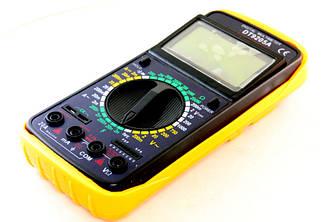 Мультиметр (тестер) DT9205A + щупи+крона