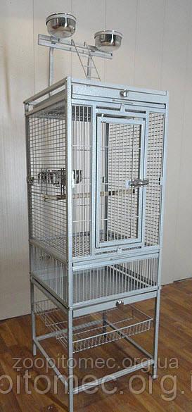 Вольер клетка для больших средних попугаев.47*47*136(213)см