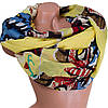 Интересный женский шарф из хлопка 184 на 86 см  ETERNO (ЭТЕРНО) ES0908-2-1 желтый