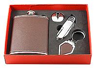 ФЛЯГА F3-397 (8 OZ), фляга с рюмками подарочная, сувенирный набор, набор в машину