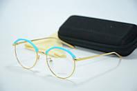 Оправа голубая с золотом 5068 c3, фото 1