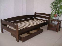"""Деревянная кровать """"Марта"""" с ящиком. Массив - сосна."""