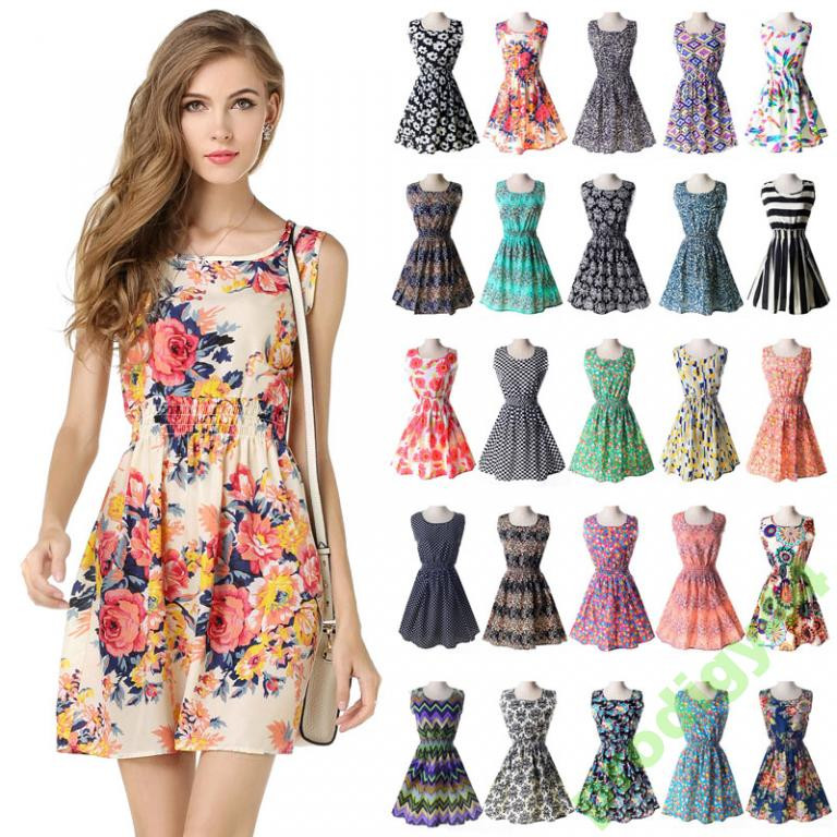 bce31ffd81b 19 расцветок Платье сарафан летнее с узором принтом Liva Girl -