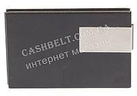 Стильная прочная тонкая визитница для своих визиток art. 2240 метал/кожа черная, фото 1