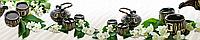 Стеклянный фартук для кухни - скинали Чай