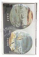 Прочная металичесская визитница для своих визиток art.рисунок земля