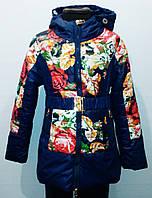 Куртка демисезонная для девочки. Цвет темно-синий