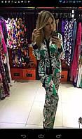 Шелковый костюм Roberto Cavalli (Роберто Кавалли) зеленый