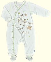 Комбинезон для новорожденных ТМ Ля-Ля, интерлок (артикул 8Т015)