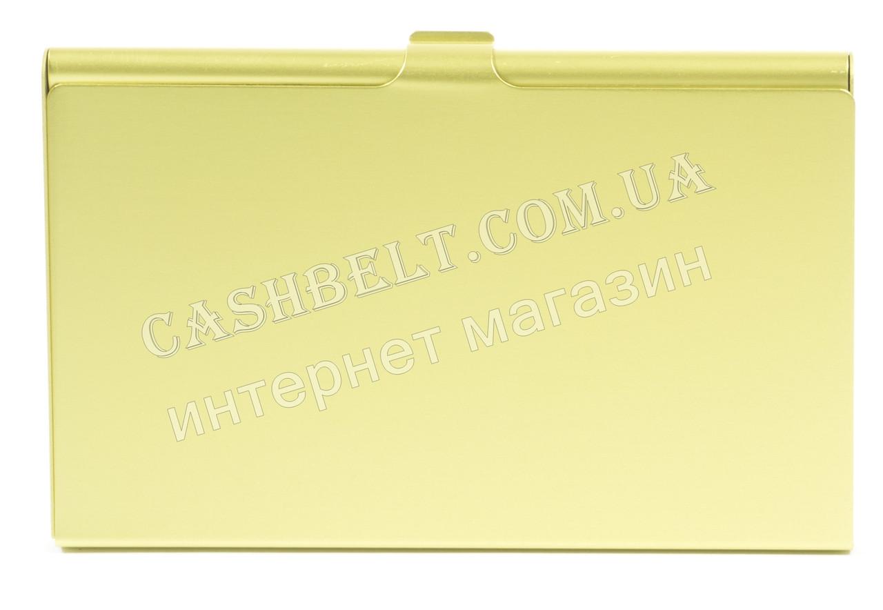Тонкая металичесская визитница для своих визиток art.светло зеленая