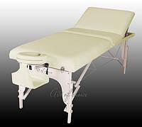 Трехсекционный  массажный деревянный стол BEL