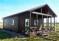 Дачный домик 9м х 6м с террассой и внутренней отделкой вагонкой, фото 1