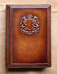 """Ежедневник с кожаным тиснением формата А-5 """" Баронет """" - прекрасный подарок на юбилей или день рождение купить"""