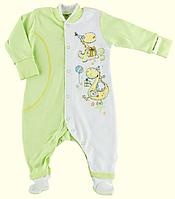 Комбинезон для новорожденных ТМ Ля-Ля, интерлок (артикул 8А09V)