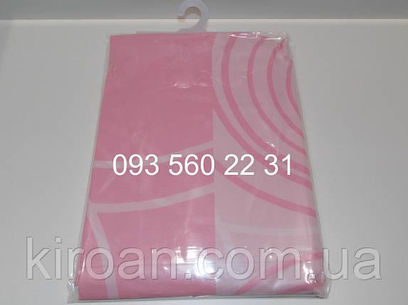 Клейончасті шторка для ванни/душа,рожева PEVA180х180 см ЕКОНОМ, фото 2
