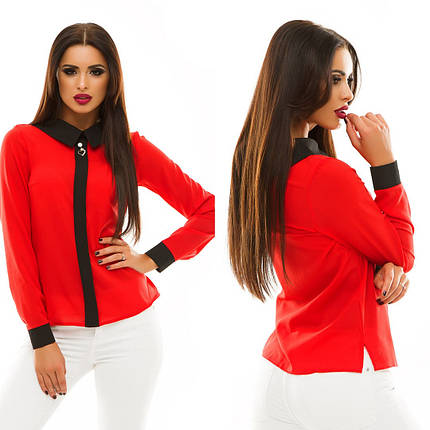 8b00da88f0e Женская блузка с фальш-планкой - купить недорого от 273 грн. в ...