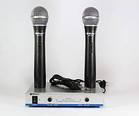 Радиосистема DM 744 микрофон 2 шт, радиомикрофоны для вокала, радиосистема микрофонная