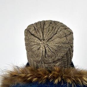 """Женская шапка NORD """"Imbir""""  Капучино, фото 2"""