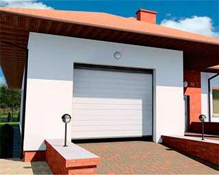 Ворота для гаража wisniowski в белом цвете