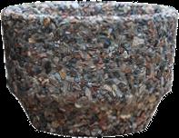 Вазон уличный «Фиеста» коричневый гранит