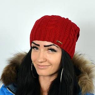 """Женская шапка NORD """"Imbir""""  Красный, фото 2"""