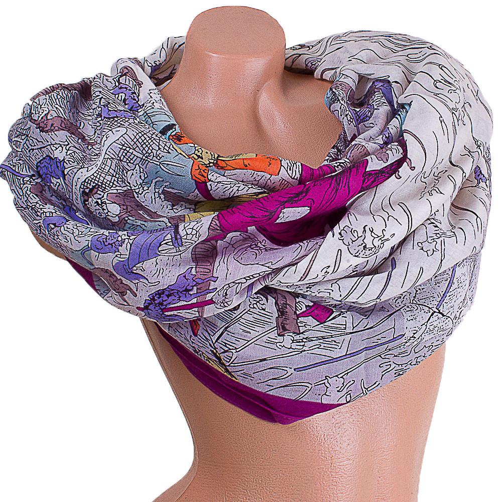 Ніжний жіночий шарф з бавовни 185 на 87 см ETERNO (ЭТЕРНО) ES0908-1-3 різнобарвний
