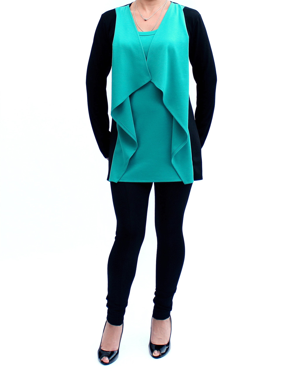 Туника-кардиган женская
