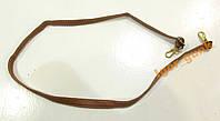 Ремень для сумки коричневый, кожзам, ОТЛ СОСТ!