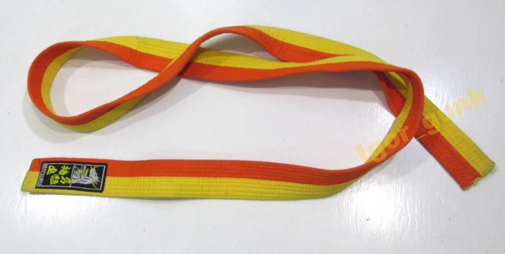 Пояс кимоно MATSURU, (180 см) желто оранжевый!