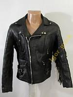 *** Куртка косуха черная, кожаная, плечи - 45  ***