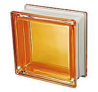 Стеклоблок оранжевый дизайнерский Q19 Colored Mendini Италия