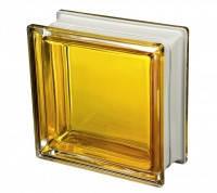 Стеклоблок желтый насыщенный дизайнерский Q19 Colored Mendini Италия
