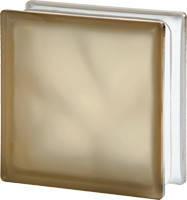 Стеклоблок бронзовый матовый 1908/W цветная стекломасса Чехия
