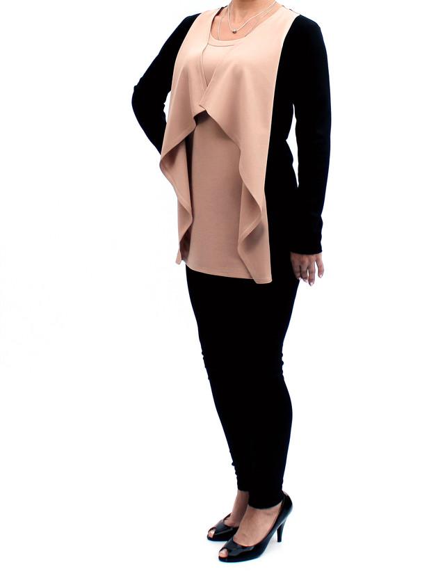туника-кардиган женская цвет беж фото teens.ua