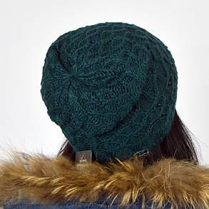 """Женская шапка NORD """"Samanta"""" Бутылочный (зеленый), фото 2"""